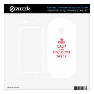 Keep Calm and focus on Tasty Samsung Continuum Decal