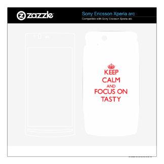 Keep Calm and focus on Tasty Xperia Arc Skin