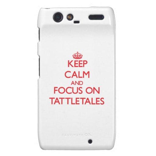 Keep Calm and focus on Tattletales Motorola Droid RAZR Cases