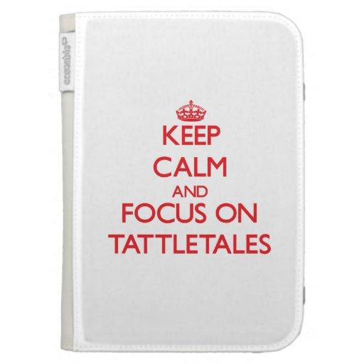 Keep Calm and focus on Tattletales Kindle Folio Cases