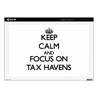 Keep Calm and focus on Tax Havens Skin For Laptop