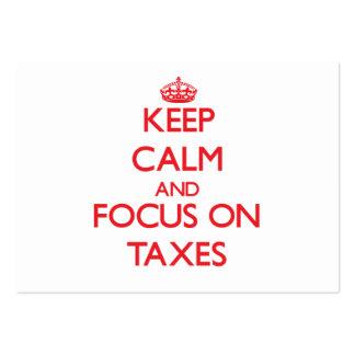 Keep Calm and focus on Taxes Business Card Templates