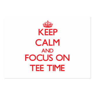 Keep Calm and focus on Tee Time Business Card Template