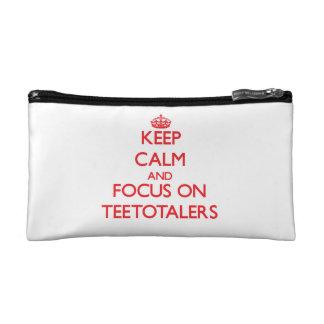 Keep Calm and focus on Teetotalers Makeup Bags