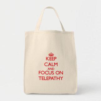 Keep Calm and focus on Telepathy Canvas Bag