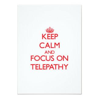 Keep Calm and focus on Telepathy Custom Announcements
