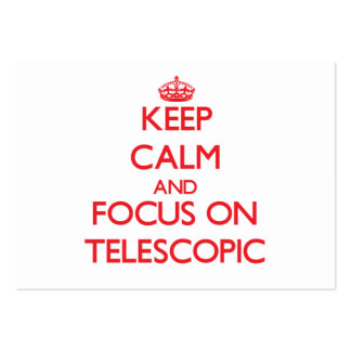 Keep Calm and focus on Telescopic Large Business Cards (Pack Of 100)