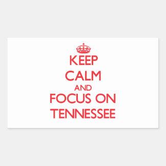 Keep Calm and focus on Tennessee Rectangular Sticker