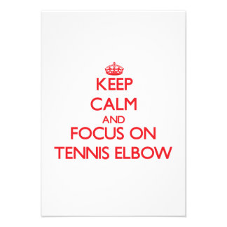 Keep Calm and focus on Tennis Elbow Custom Invites
