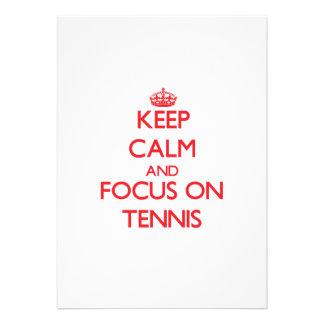 Keep Calm and focus on Tennis Invitation