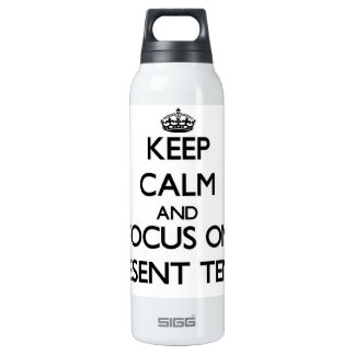 Keep Calm and focus on Tense 16 Oz Insulated SIGG Thermos Water Bottle