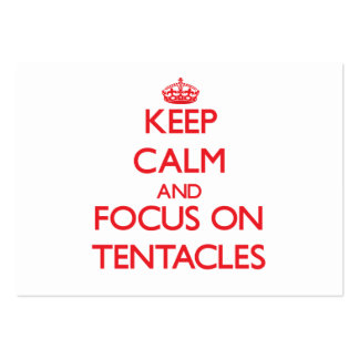 Keep Calm and focus on Tentacles Large Business Cards (Pack Of 100)