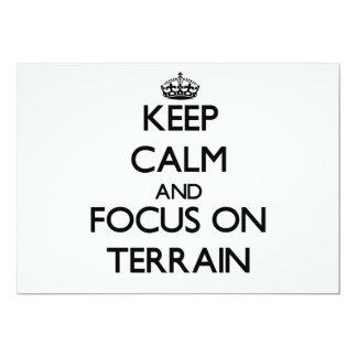 """Keep Calm and focus on Terrain 5"""" X 7"""" Invitation Card"""