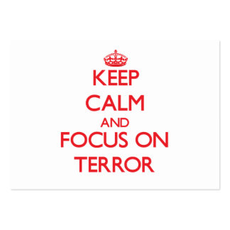 Keep Calm and focus on Terror Business Cards