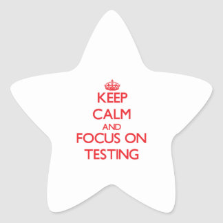 Keep Calm and focus on Testing Star Stickers
