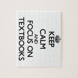Keep Calm and focus on Textbooks Jigsaw Puzzles