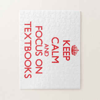Keep Calm and focus on Textbooks Puzzle