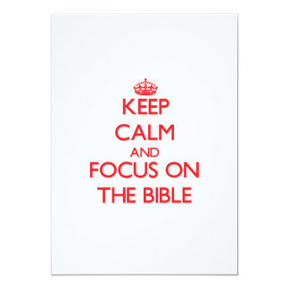 Keep Calm and focus on The Bible Personalized Announcements