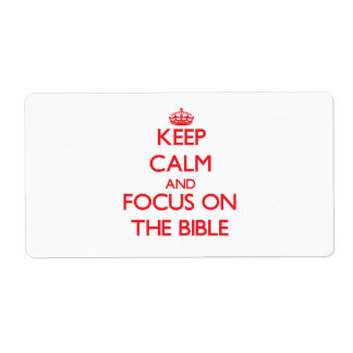 Keep Calm and focus on The Bible Personalized Shipping Labels