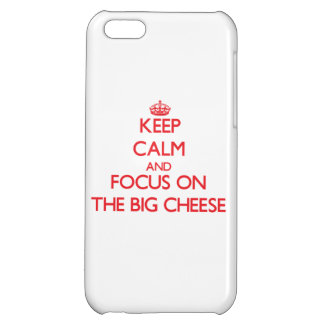 Keep Calm and focus on The Big Cheese iPhone 5C Covers