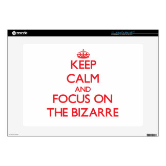 """Keep Calm and focus on The Bizarre 15"""" Laptop Decal"""