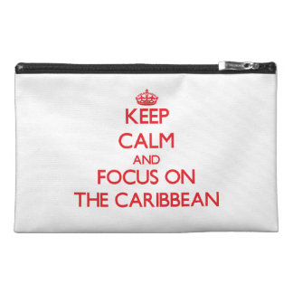 Keep Calm and focus on The Caribbean Travel Accessories Bags