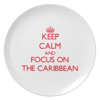 Keep Calm and focus on The Caribbean Plate