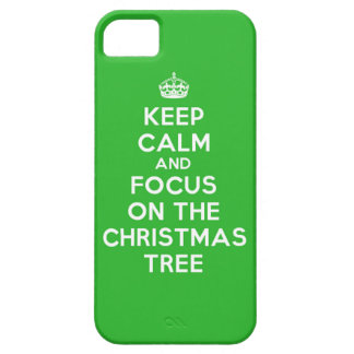 Keep Calm and focus on The Christmas Tree, funny iPhone SE/5/5s Case