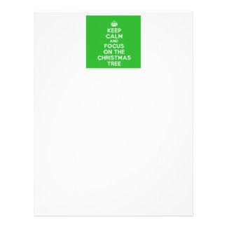 Keep Calm and focus on The Christmas Tree, funny Letterhead