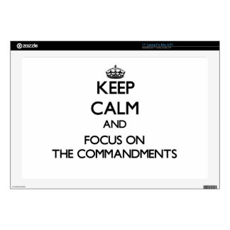"""Keep Calm and focus on The Commandments Decal For 17"""" Laptop"""