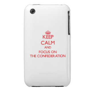Keep Calm and focus on The Confederation Case-Mate iPhone 3 Cases