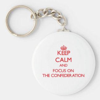 Keep Calm and focus on The Confederation Keychains