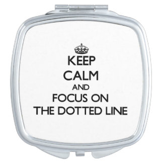 Keep Calm and focus on The Dotted Line Mirrors For Makeup