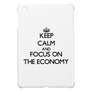 Keep Calm and focus on THE ECONOMY iPad Mini Covers