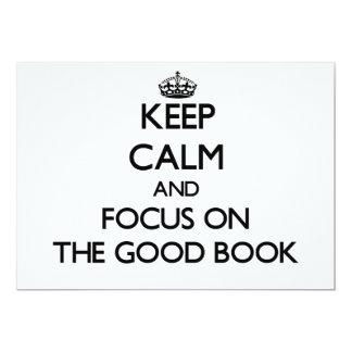 Keep Calm and focus on The Good Book Custom Announcement