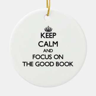 Keep Calm and focus on The Good Book Christmas Tree Ornaments