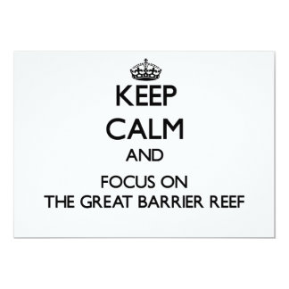 Keep Calm and focus on The Great Barrier Reef 5x7 Paper Invitation Card