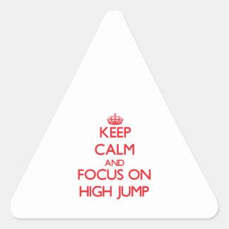 Keep calm and focus on The High Jump Sticker