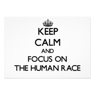 Keep Calm and focus on The Human Race Personalized Invite