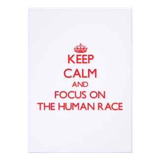 Keep Calm and focus on The Human Race Personalized Invitations
