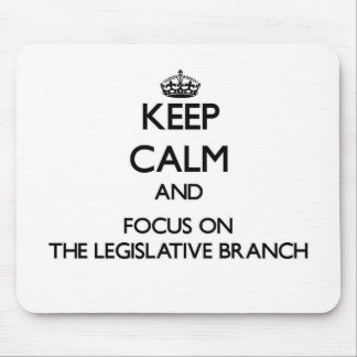 Keep Calm and focus on The Legislative Branch Mouse Pad