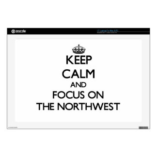 """Keep Calm and focus on The Northwest Skin For 17"""" Laptop"""
