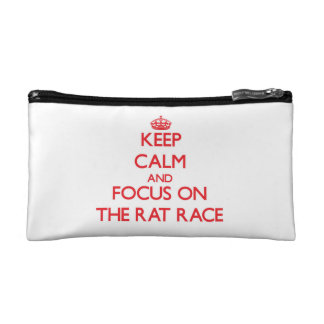 Keep Calm and focus on The Rat Race Cosmetic Bags