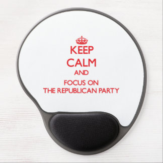Keep Calm and focus on The Republican Party Gel Mouse Pad