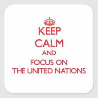 Keep Calm and focus on The United Nations Square Sticker