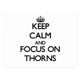 Keep Calm and focus on Thorns Postcards