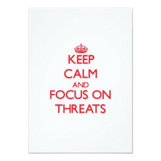 Keep Calm and focus on Threats Custom Invitation
