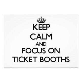 Keep Calm and focus on Ticket Booths Custom Invitations