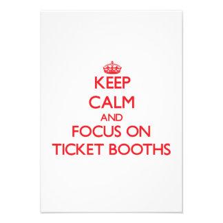 Keep Calm and focus on Ticket Booths Custom Invitation