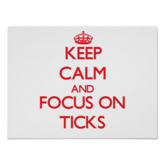 Keep Calm and focus on Ticks Poster